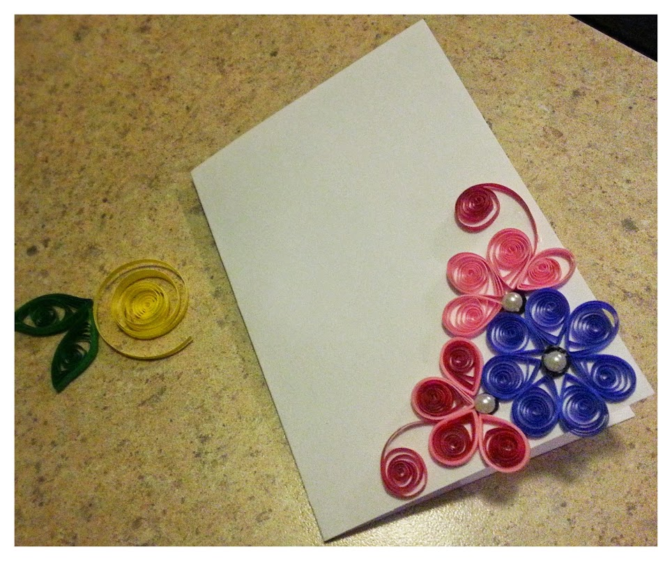 quilled greeting card tinyminyblog